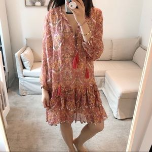 ✨Zara Boho Drop Waist Dress